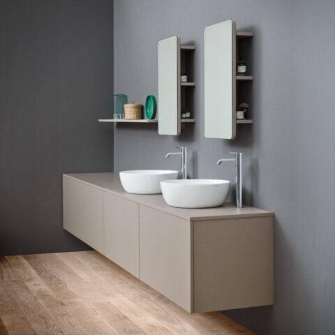 lay on washbasin bacinella white colored ceramic ovvio nic design