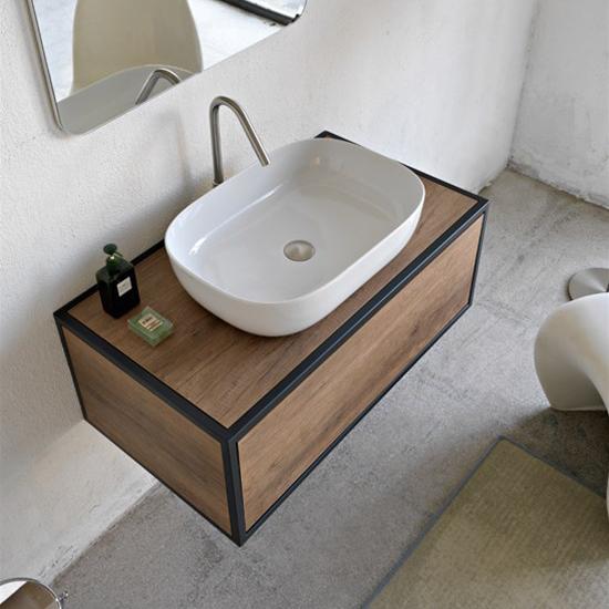 aufsatzwaschbecken keramik Weiß farbig glam 56x39 scarabeo
