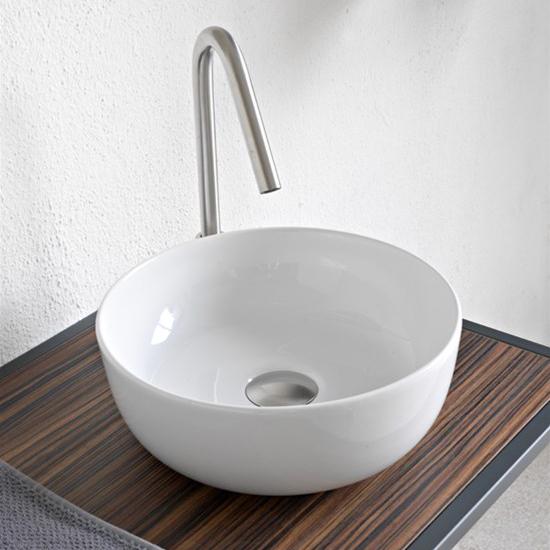 aufsatzwaschbecken keramik Weiß farbig glam Durchmesser 33 scarabeo