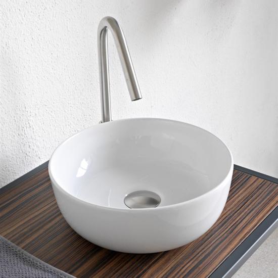 aufsatzwaschbecken keramik Weiß farbig glam Durchmesser 39 scarabeo