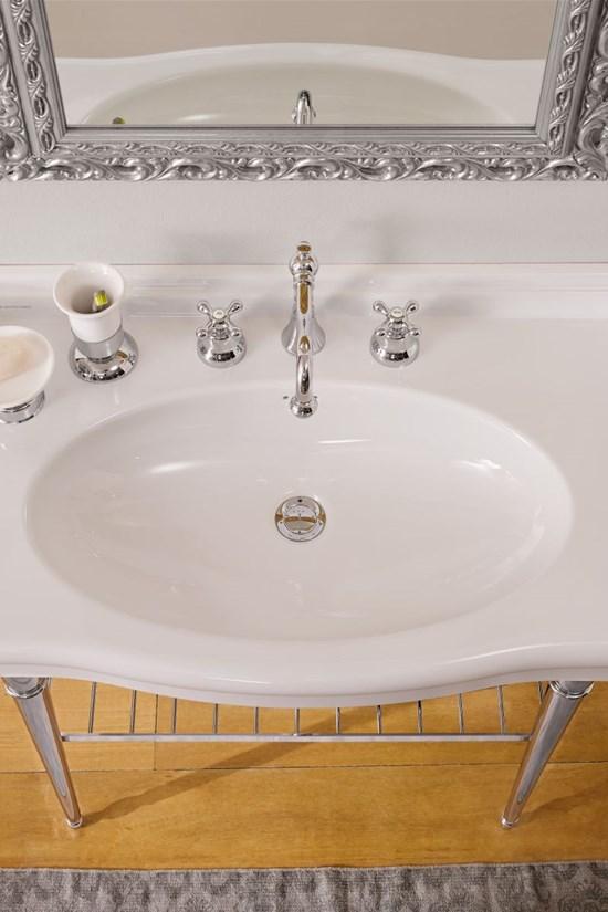 aufsatz-oder hängewaschbecken keramik 91x53 castellana scarabeo