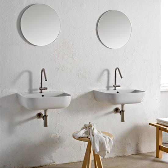 aufsatz-oder hängewaschbecken keramik Weiß glam s 55x42 glam s scarabeo