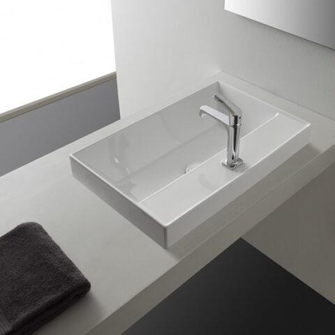 lavabo da incasso ceramica 60x44 teorema 2.0 con foro