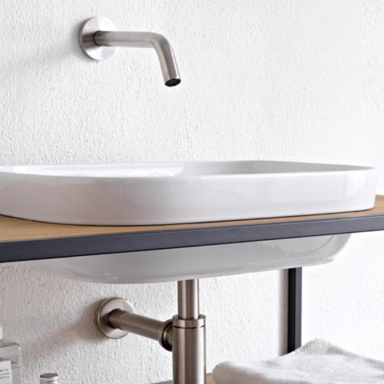 lavabo da incasso in ceramica 56x39 glam a scarabeo