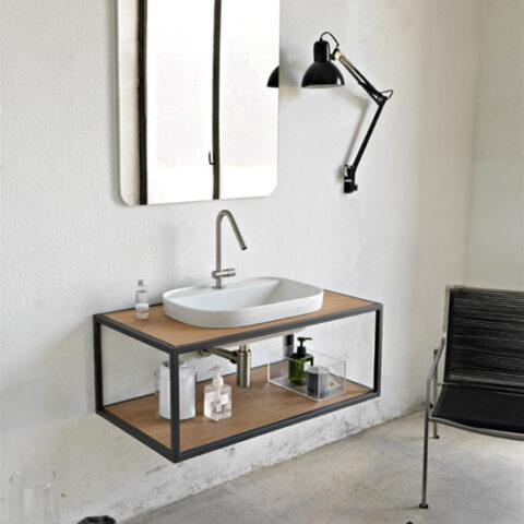 built-in washbasin ceramic with tap hole glam ar scarabeo