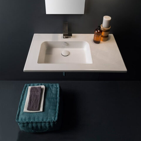 lavabo sospeso ceramica bianco 82,5x47 scarabeo etra