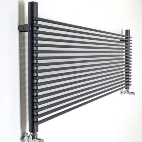 horizontal heated towel rail colored white city o graziano radiators