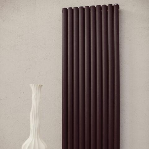 vertical white colored living radiator apside d graziano radiators