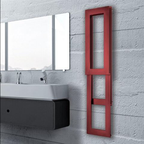 heated towel rail bathroom white colored pit brem