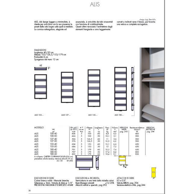 data sheet heated towel rail white colored brem alis