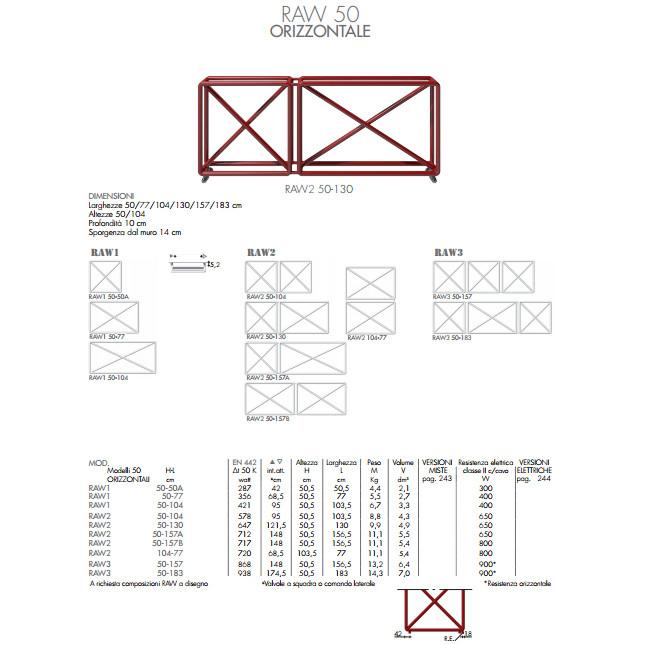 technische datenblatt heizkörper raw 50 horizontal brem