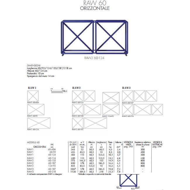 technische datenblatt heizkörper raw 60 horizontal brem