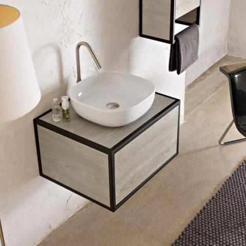 struttura porta lavabo con cassetto scarabeo frame