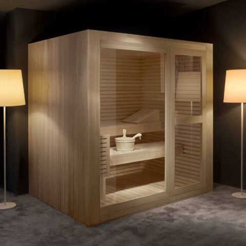 sauna digitale Steuerung wellness treesse kayu