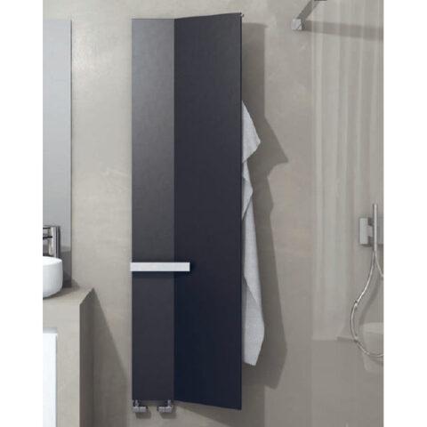 heated towel rail bathroom white colored veletta brem