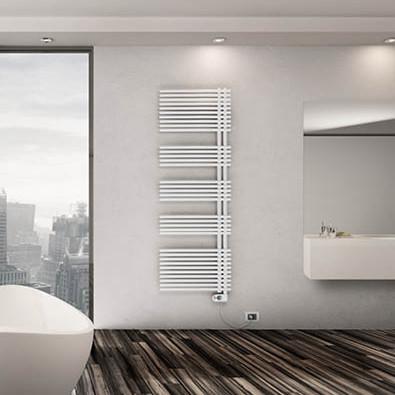 sèche-serviettes électrique salle de bain blanc lazzarini garda