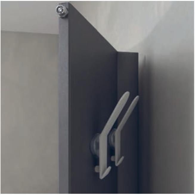 elektrische Handtuchwärmer Weiß farbig Griff Detail veletta brem