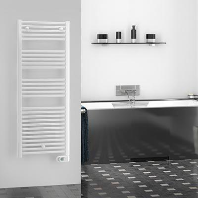 Handtuchwärmer elektrisch Weiß farbig lazzarini cortina evo