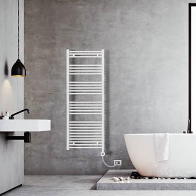 electric heated towel rail bathroom white lazzarini bolzano