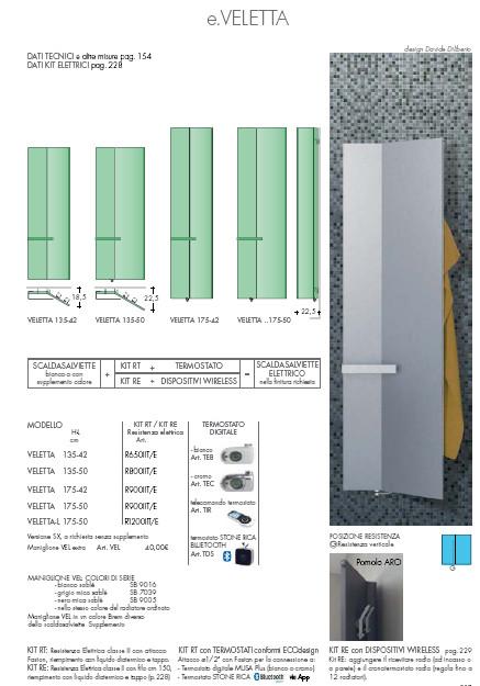 technische datenblatt elektrische Handtuchwärmer veletta brem