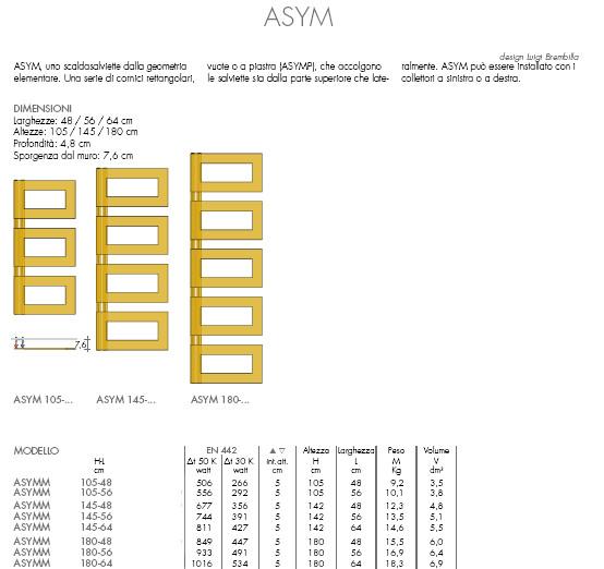 technische datenblatt Handtuchwärmer asym brem