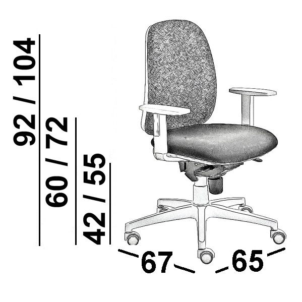 scheda tecnica sedia da ufficio imbottita luxy post