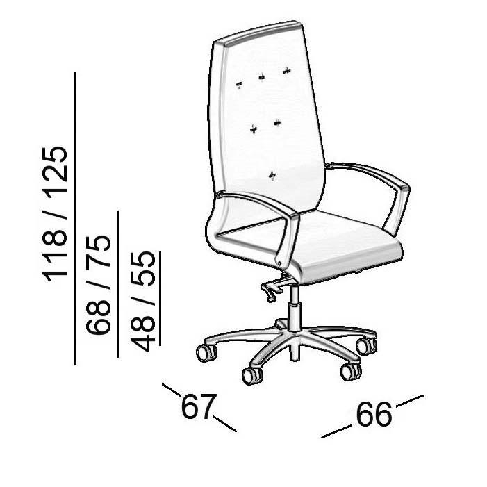scheda tecnica sedia da ufficio luxy one