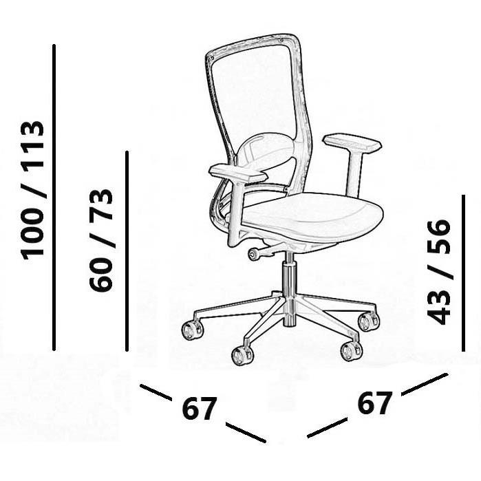 fiche tehcnique chaise de bureau luxy pop