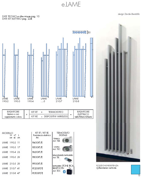 fiche technique radiateur électrique lame brem