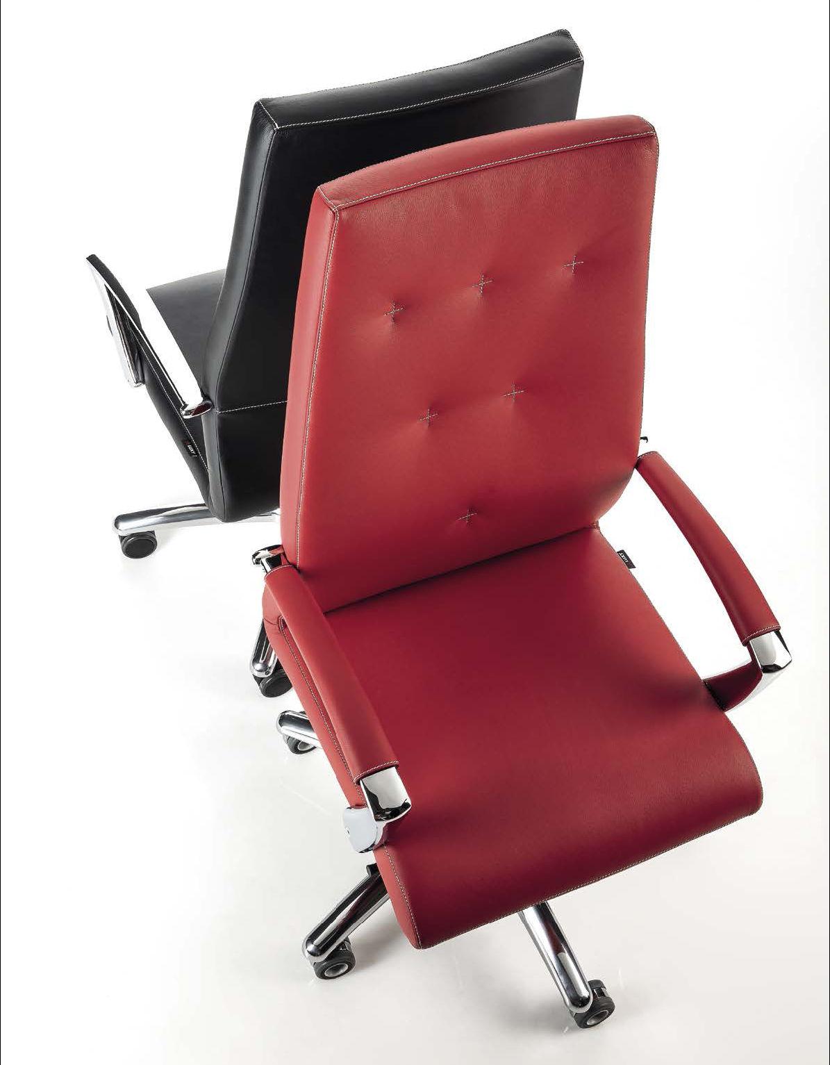 sedia da ufficio bianca colorata luxy one