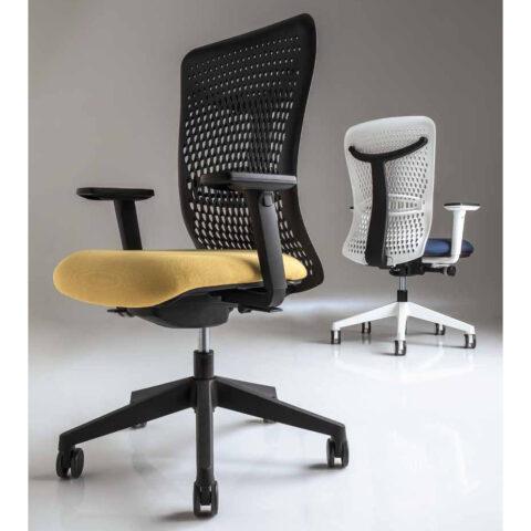 sedia da ufficio bianca colorata luxy smart back