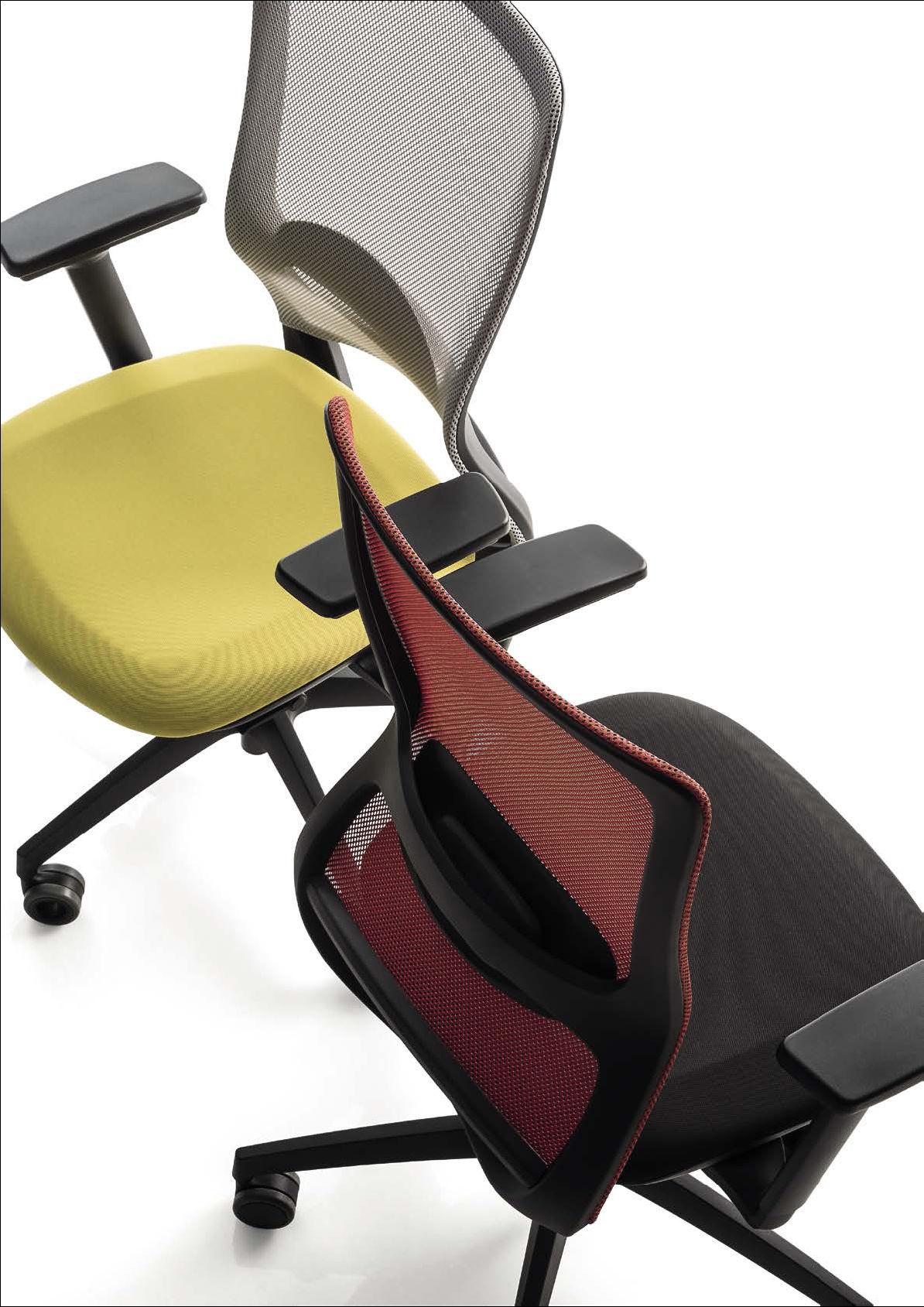 chaise de bureau accoudoir noir luxy pop