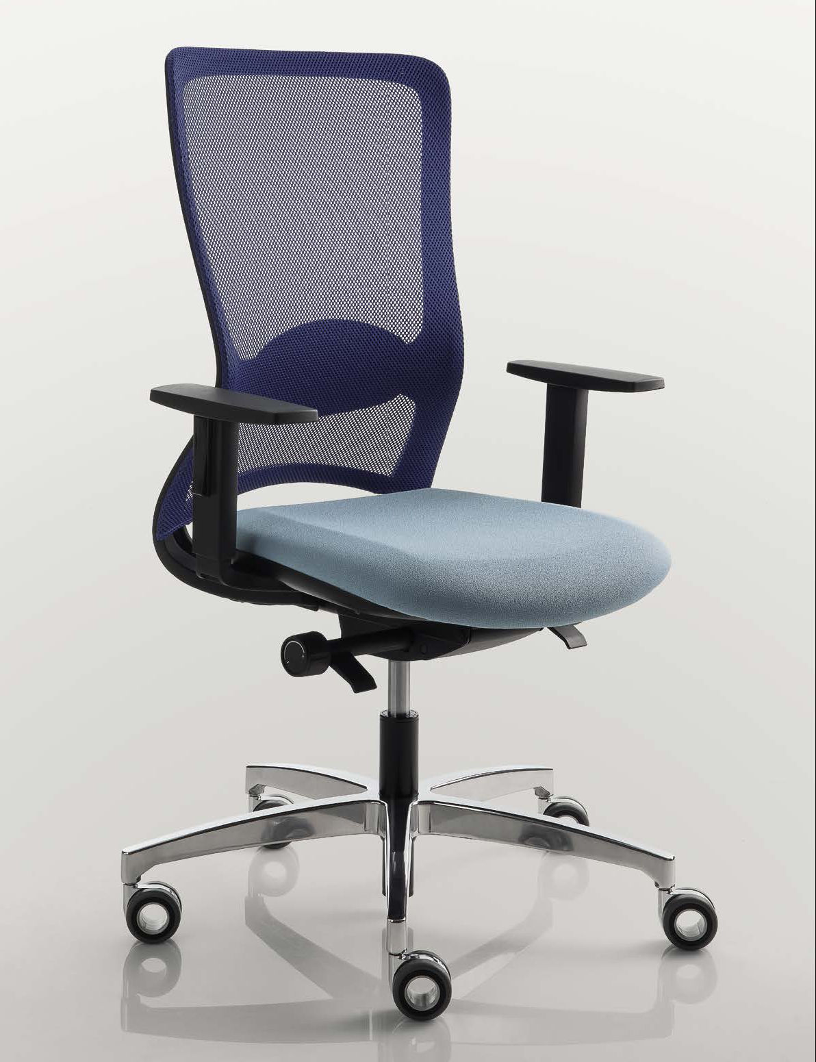 chaise de bureau coloré blanc luxy pop