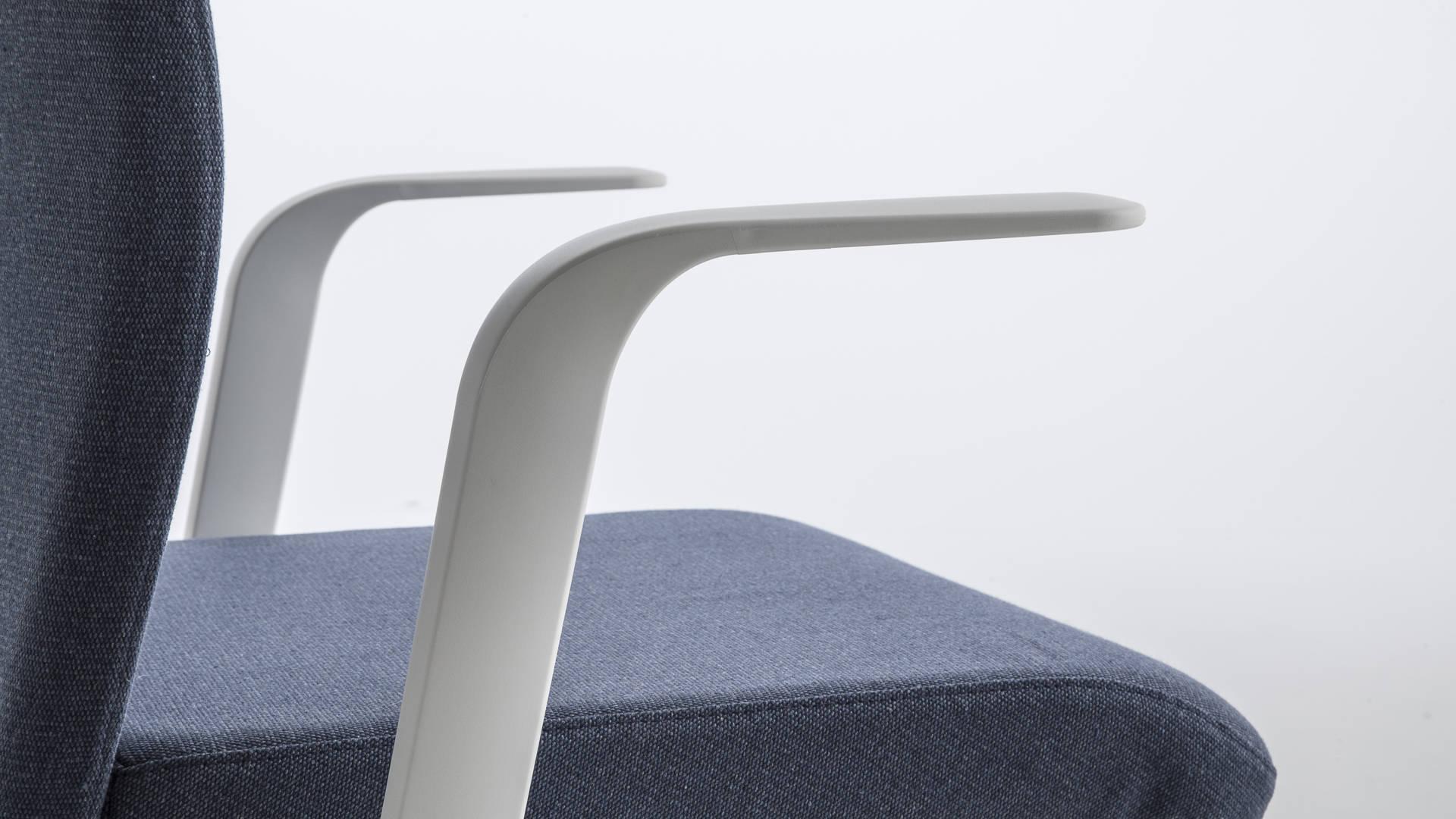 sedia da ufficio regolabile dettaglio bracciolo smart office luxy