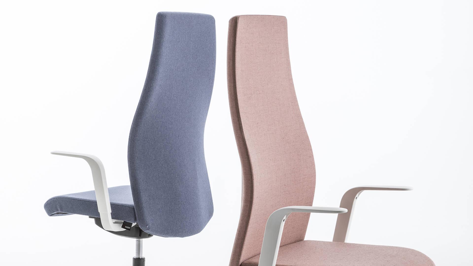 sedia da ufficio regolabile dettaglio schienale smart office luxy