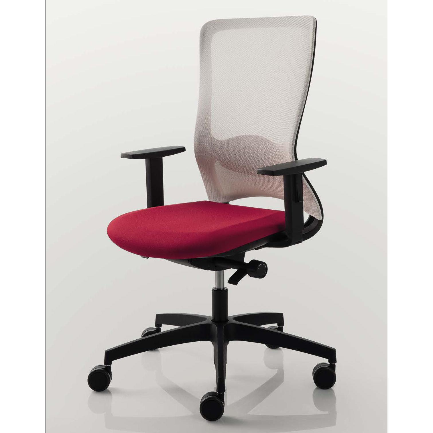 chaise de bureau dossier haut coloré luxi pop