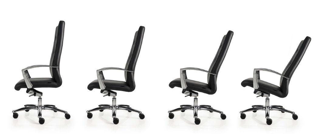 sedia da ufficio schienale alto nera luxy one