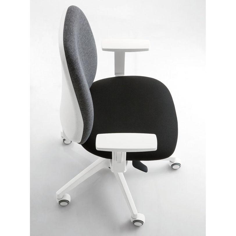 sedia da ufficio schienale basso colorato luxy post