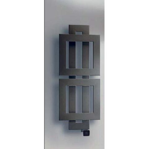 radiateur électrique blanc coloré cross q avec des carrés qui se chevauchent brem