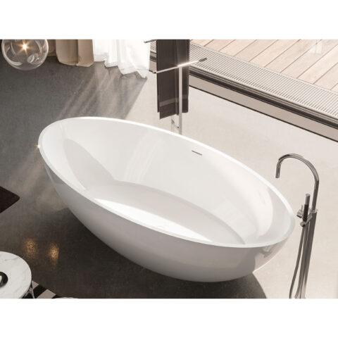 vasca da bagno solid surface lucida treesse carezza