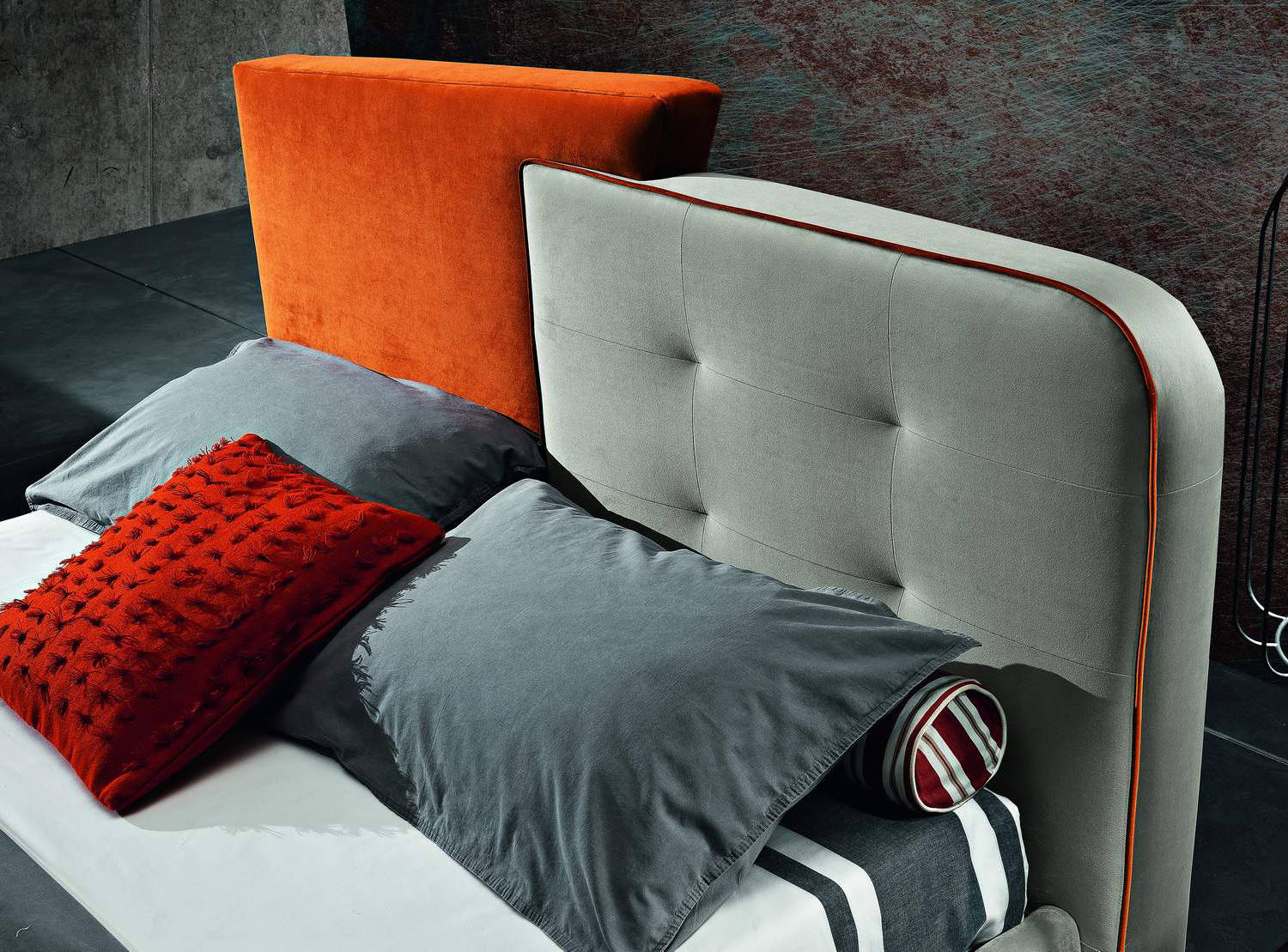 double bed container headboard detail maxhome dixon