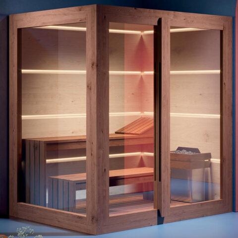 sauna wellness digitale Steuerung aura treesse