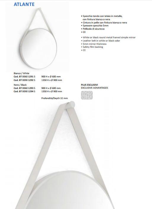 scheda tecnica specchio bagno vanità e casa atlante