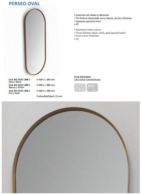 technische datenblatt badezimmer spiegel vanità e casa perseo oval