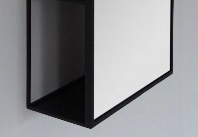 container bathroom mirror black frame detail vanità e casa sector