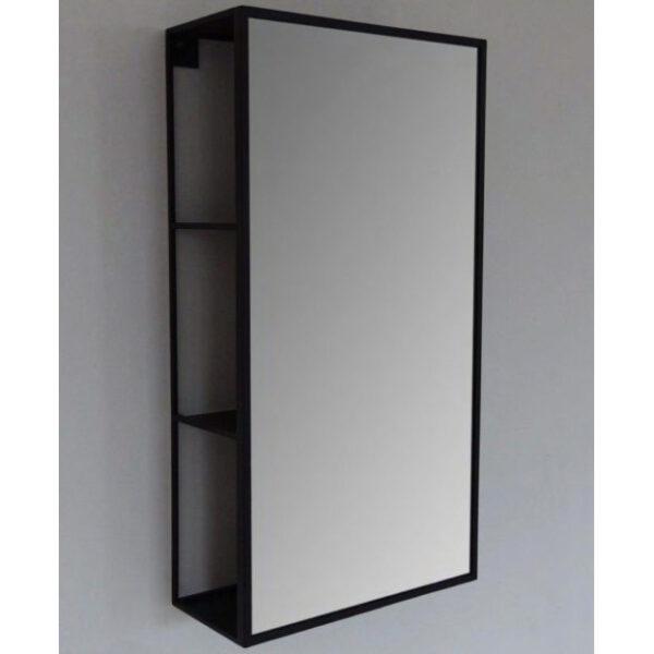 container bathroom mirror black frame vanità e casa sector