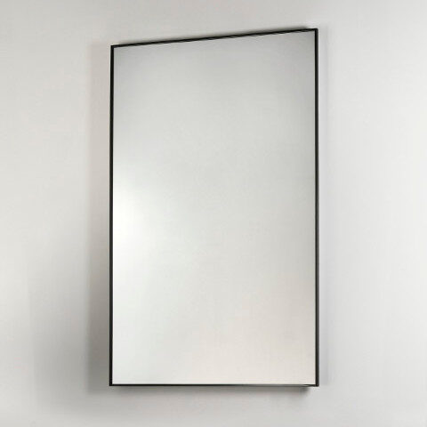 bathroom mirror black frame vanità e casa gamma