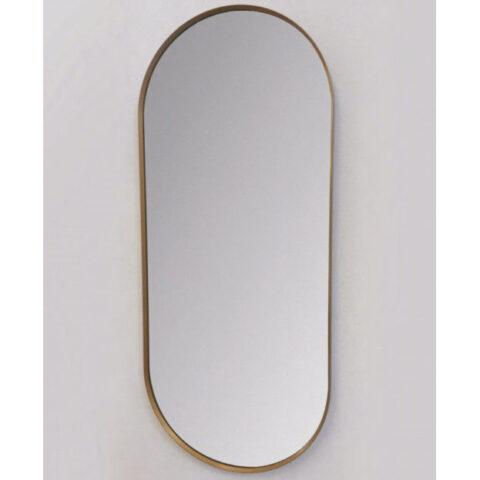 miroir de salle de bain cadre coloré vanità e casa perseo oval