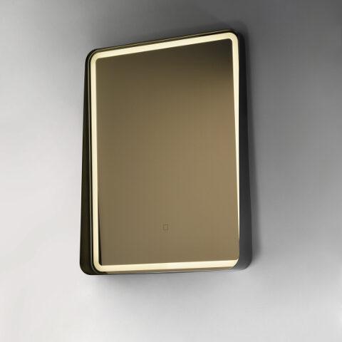Badezimmer spiegel beleuchtet led schwarzer Rand alicante vanità e casa
