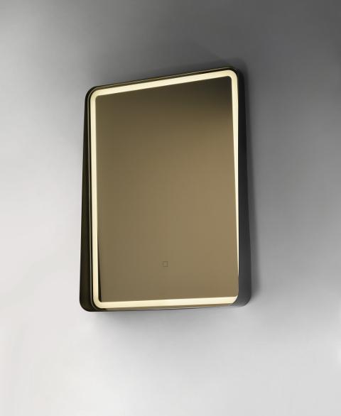 specchio bagno illuminato led bordo nero alicenta vanità e casa